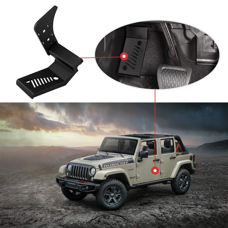 Black Seven Sparta Steel Driver Side Dead Pedal Left Side Foot Rest for 2018 Jeep Wrangler JL /& JLU Automatic Transmission Models