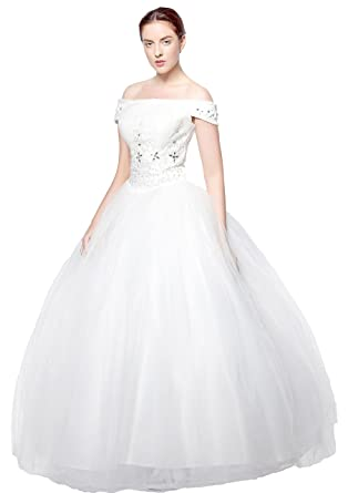 atopdress@ wt03 cap sleeve Wedding bride wear big day dress eveing ball prom dress party