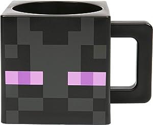 JINX Minecraft Enderman Face Square Plastic Mug, Black, 9.8 ounces