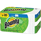 """Bounty Select-A-Size 2-Ply Paper Towels, 11"""" x 5-15/16"""", White, Pack of 12 Mega Rolls"""