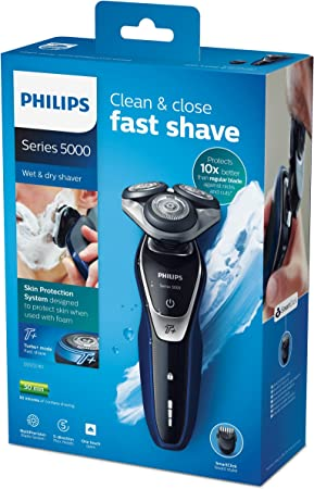 Philips SHAVER Series 5000 - Afeitadora (Rotation shaver, Azul ...