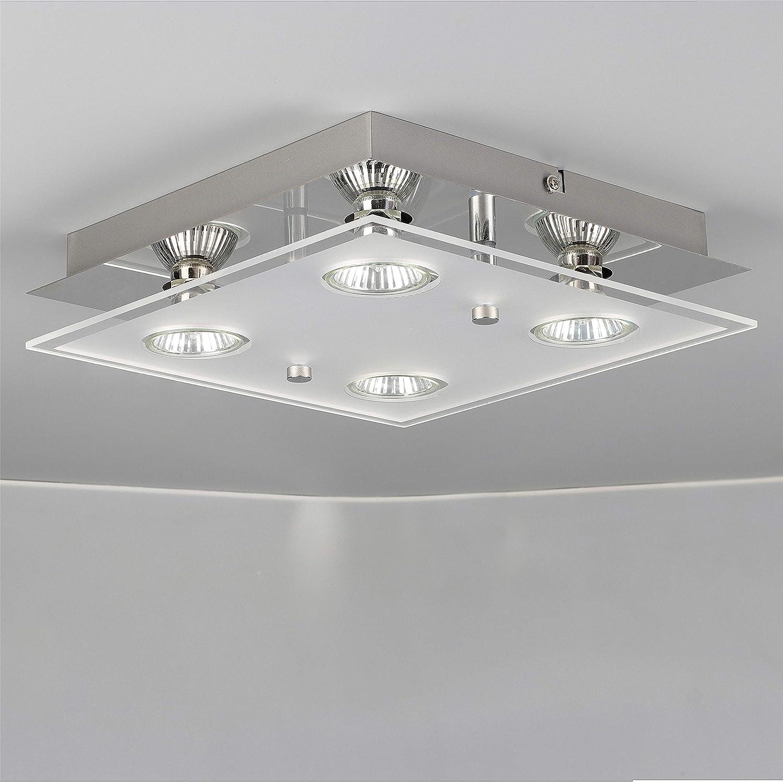 Romke 4 way gu10 ceiling lightmodern square led ceiling light gu10 fittingtempered glassgu10 ceiling spotlight ceiling kitchen lightsceiling light