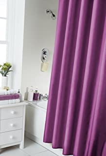 VIBRANT BERRY PURPLE SHOWER CURTAIN 180CM X INCLUDES RINGS