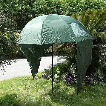Altura ajustable de pesca mar playa paraguas sol refugio Top inclinación tienda de campaña con cremallera