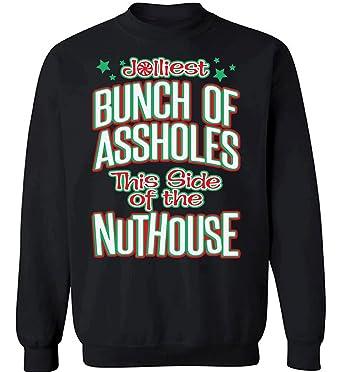 Raxo Jolliest Bunch Sweatshirt Funny National Lampoon Christmas Vacation Sweater Black S