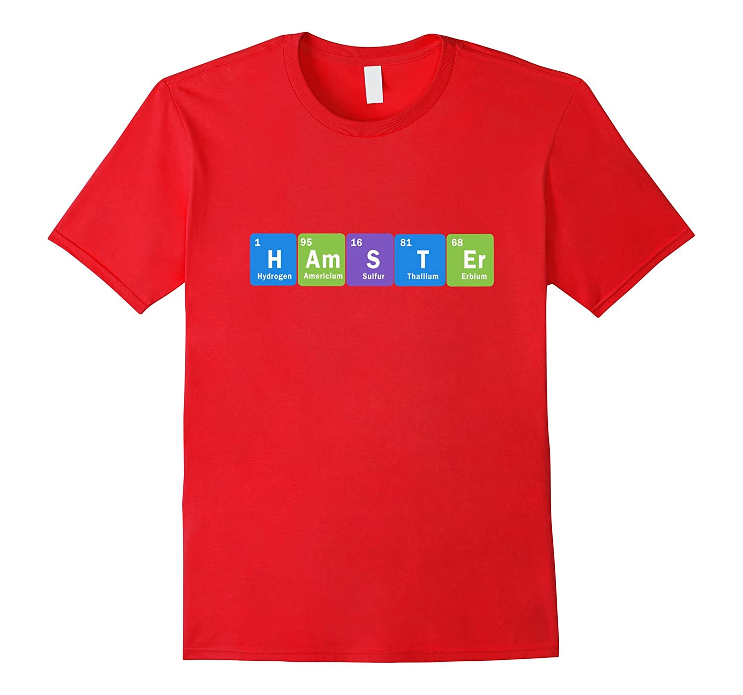 FUNNY HAMSTER T-SHIRT Science Periodic Table Teacher Student-azvn