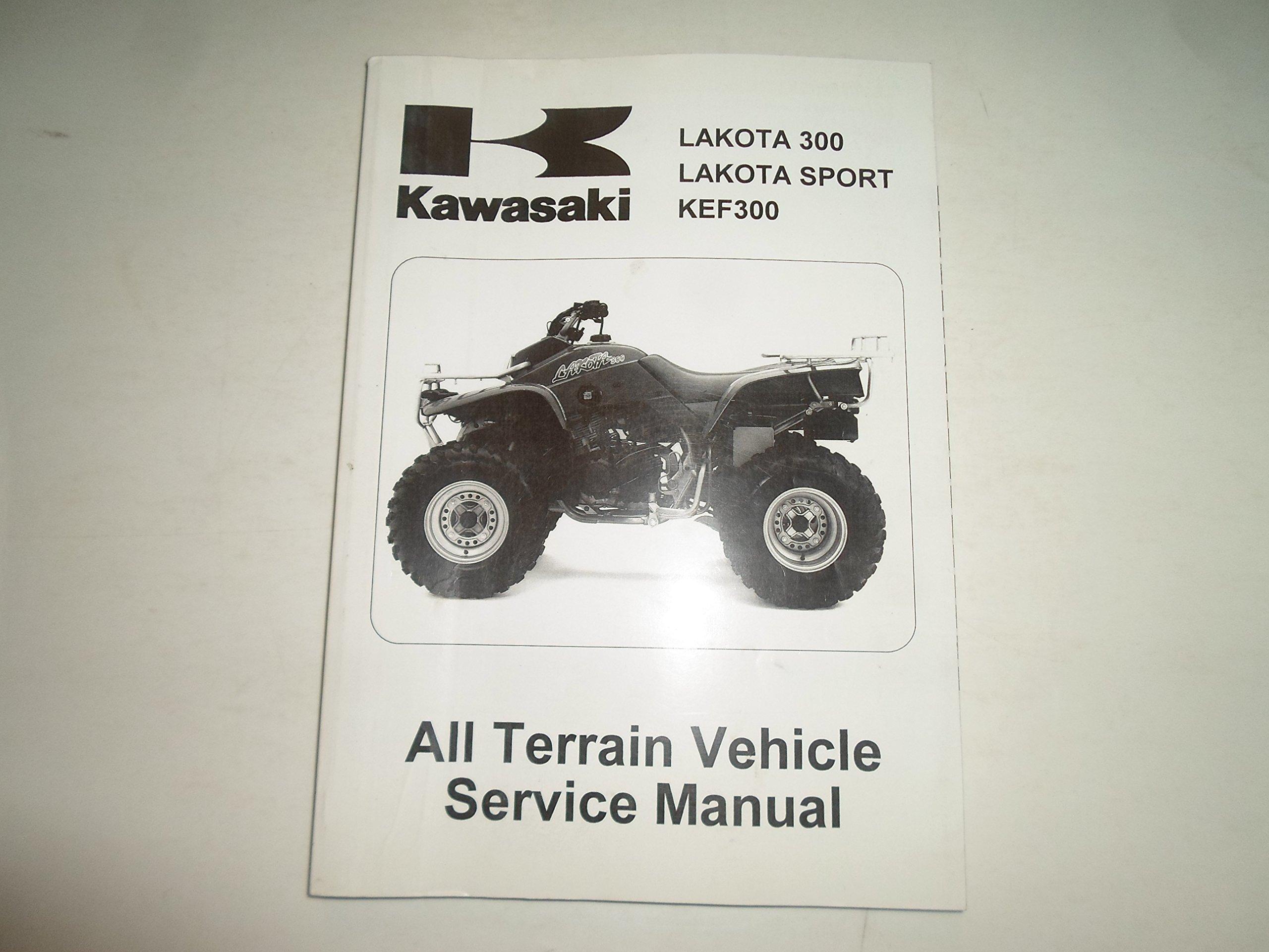 1995 2004 Kawasaki Lakota 300 Sport KEF300 ATV Service Repair Manual WORN  STAIN: KAWASAKI: Amazon.com: Books