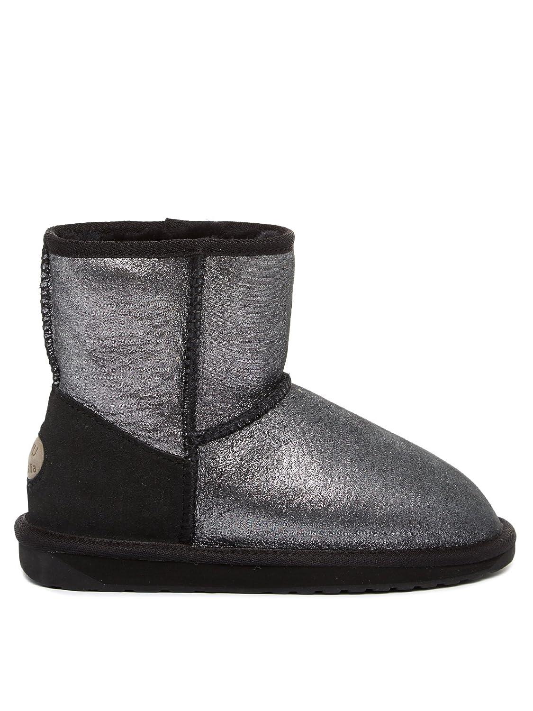EMU Australia STINGER METALLIC W11378 - Damen Schuhe Schuhe Schuhe Stiefel Stiefel Warmfutter - metallic-schwarz 6d7342