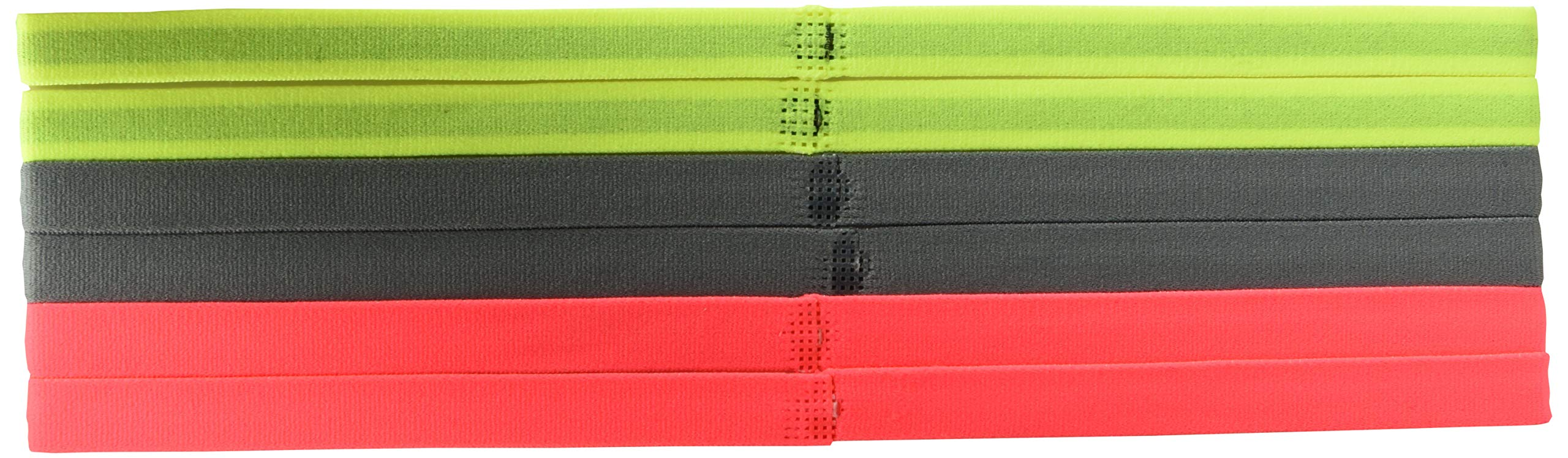 Nike Women's Swoosh Sport Headbands 6PK Volt/Cool Grey/Hot Punch Size One Size by Nike (Image #2)