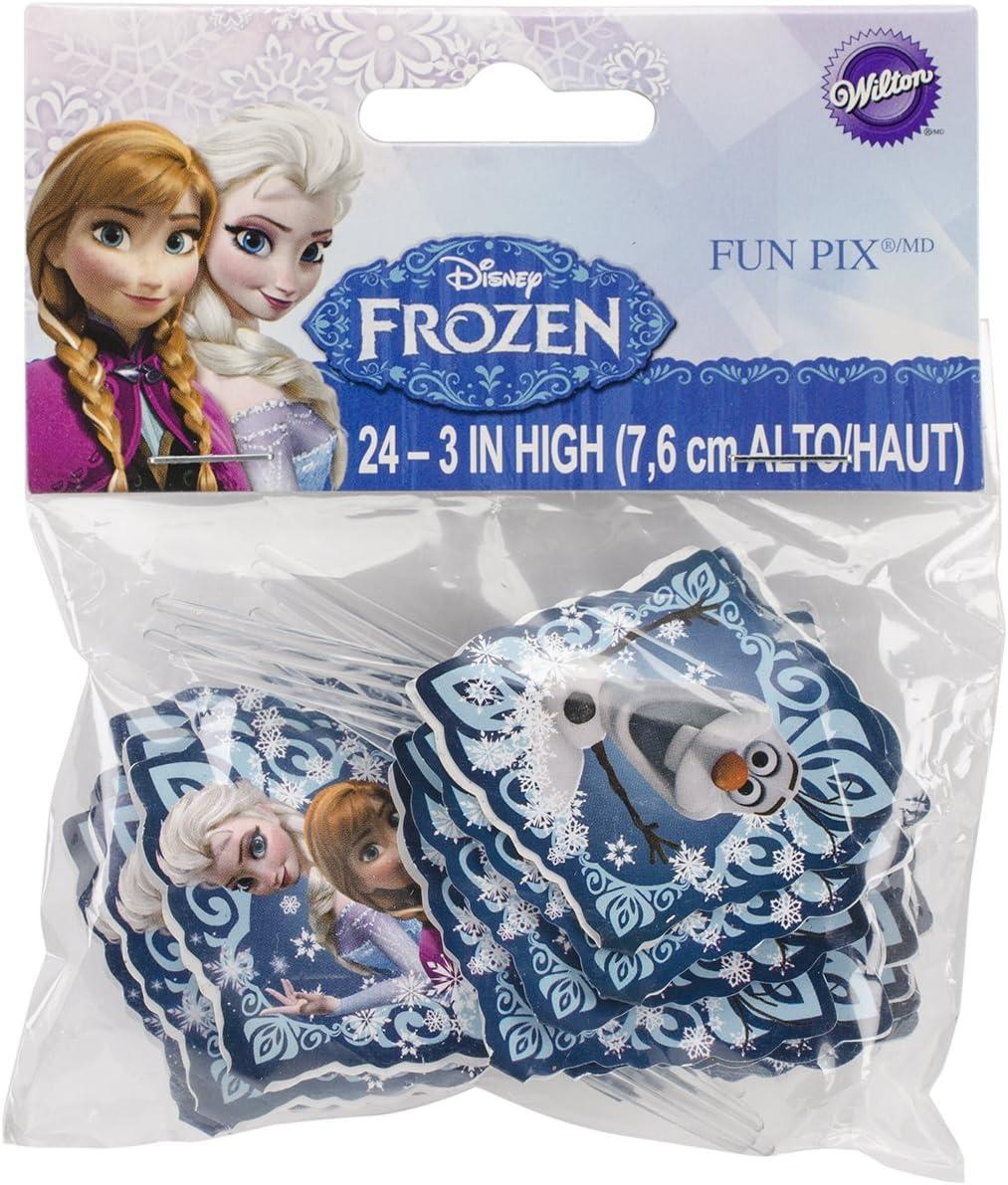 Wilton 2113-4500 Disney Frozen Fun Pix Cupcake Decor