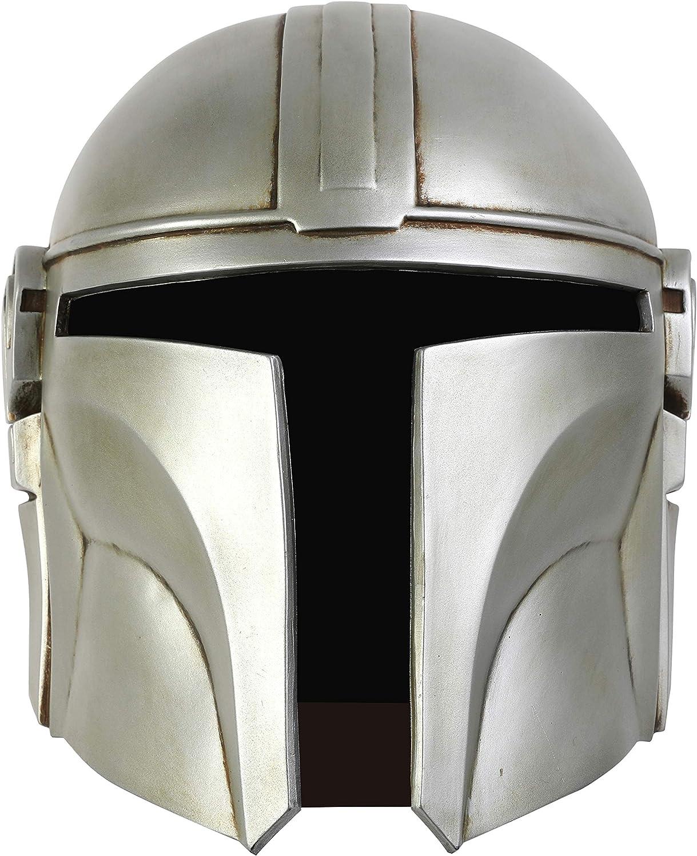 Cosplay Mask Silver Latex Helmet Prop Halloween for Men Boys