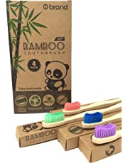 Biodegradable Bamboo Toothbrush, Soft Bristle Toothbrush, Eco Friendly & Natural, BPA Free, Wooden Toothbrushes, Zero Waste Products, Organic, Vegan, Tooth Brush, Non Plastic, Environmental (4 Pack)