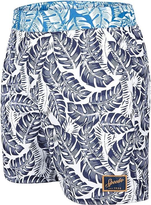 TALLA M. Speedo Vintage Printed Pantalones Cortos de Baño, Hombre