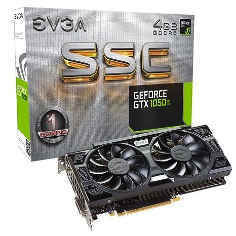 EVGA GeForce GTX 1050 Ti SSC Gaming ACX 3 0, 4GB GDDR5, DX12 OSD Support  (PXOC) Graphics Card 04G-P4-6255-KR