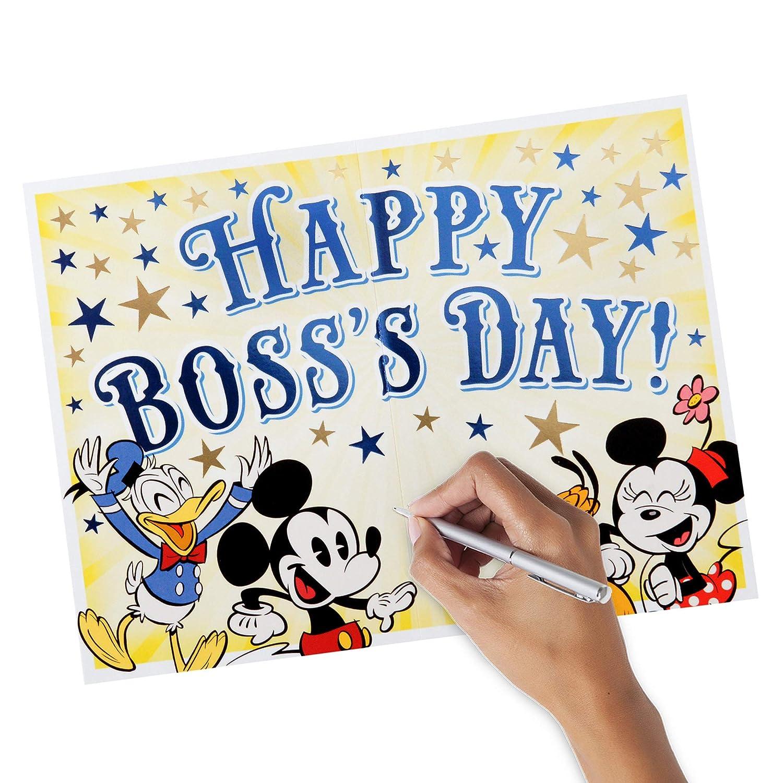 Amazon Hallmark Bosss Day Card Disney Mickey Mouse Office