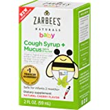Zarbee's Naturals Baby Cough Syrup + Mucus with Agave & Ivy Leaf, Natural Cherry Flavor, 2 Ounce Bottle