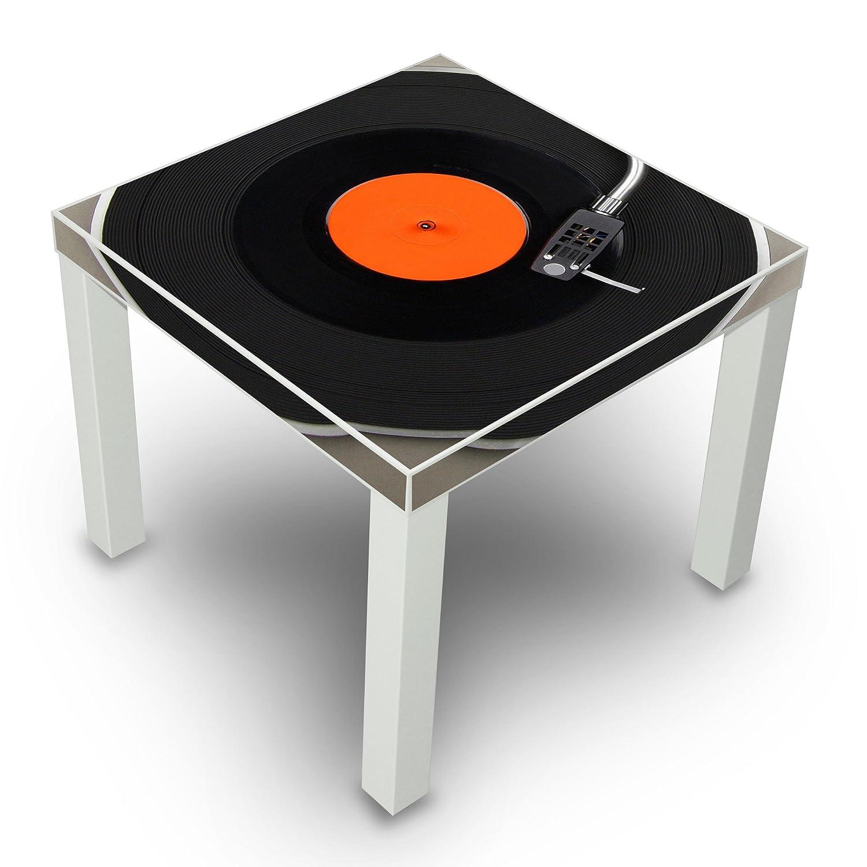 Mesa auxiliar blanco con diseño: Tocadiscos: Amazon.es: Hogar