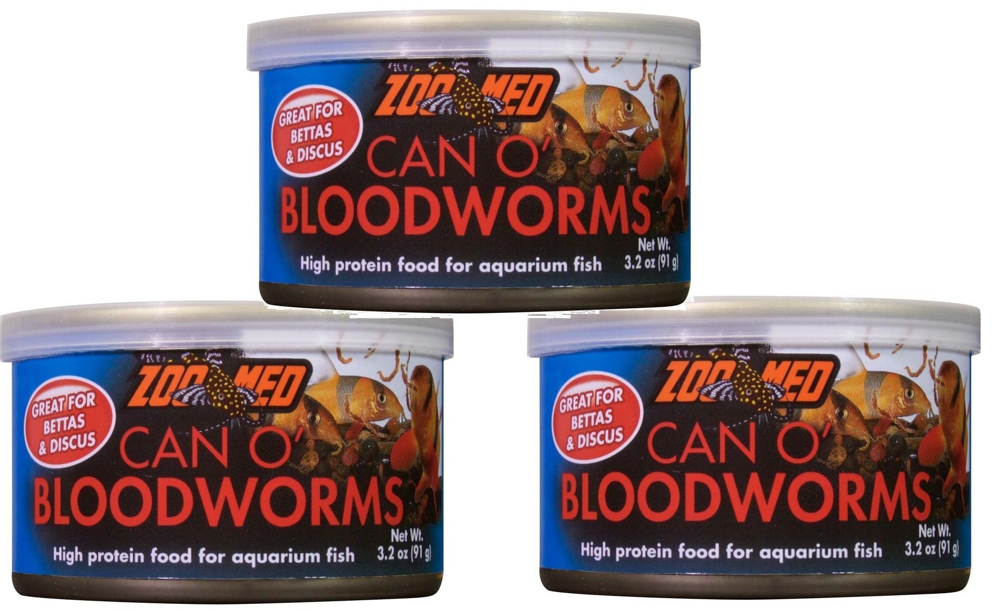 Zoo Med Can O Bloodworms: 3.2 oz (3 Pack) by Zoo Med (Image #1)