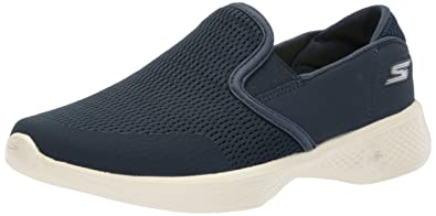 Skechers Damen Go Walk 4-Attuned Slip on Sneaker, Blau (Navy), 39 EU