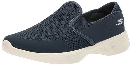 Skechers Aller À Pied Lite, Femmes Chaussures Sans Lacets, Bleu (marine), 40 Eu