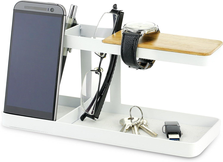 Kovot KO-208 Compact Home and Office Desktop Stand, White/Wood