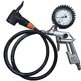 Reifenfüller geeicht mit SKS Hebelstecker für Fahrradventil und Autoventil