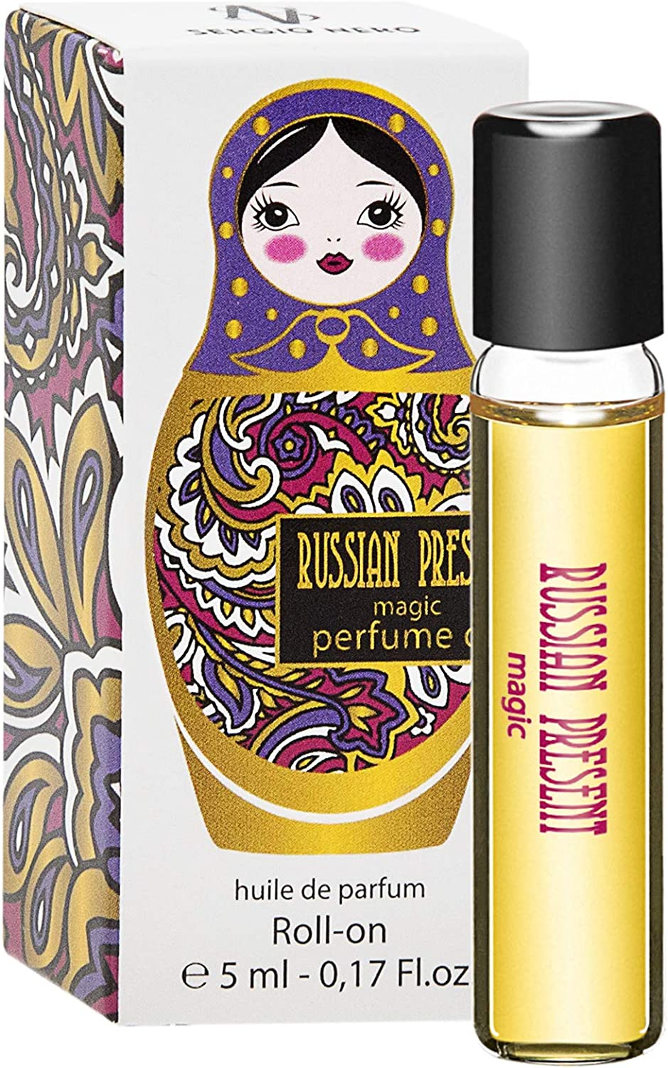 Russian Present Magic Perfume Oil for Women - 5 ml Miniature Rollerball – Perfume as Makeup