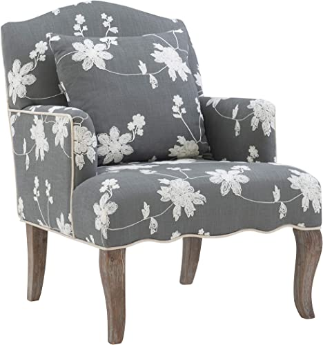 Linon Floral Arm Chair