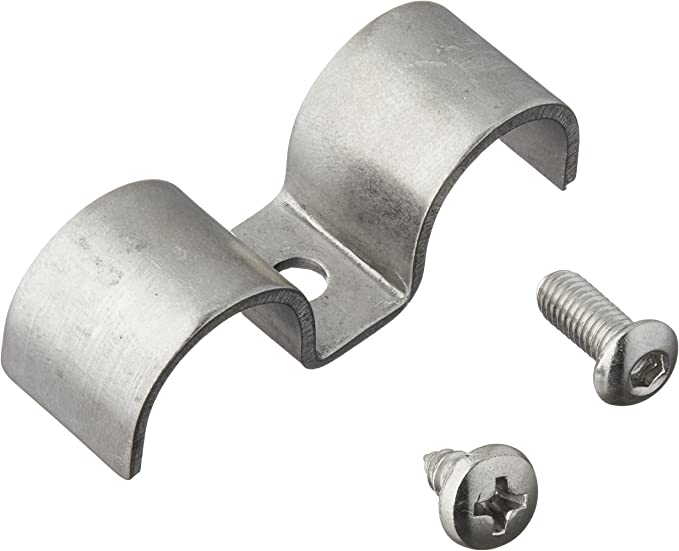 12 Pack Helix 11099 3//8 Stainless Steel Double Line Clamp