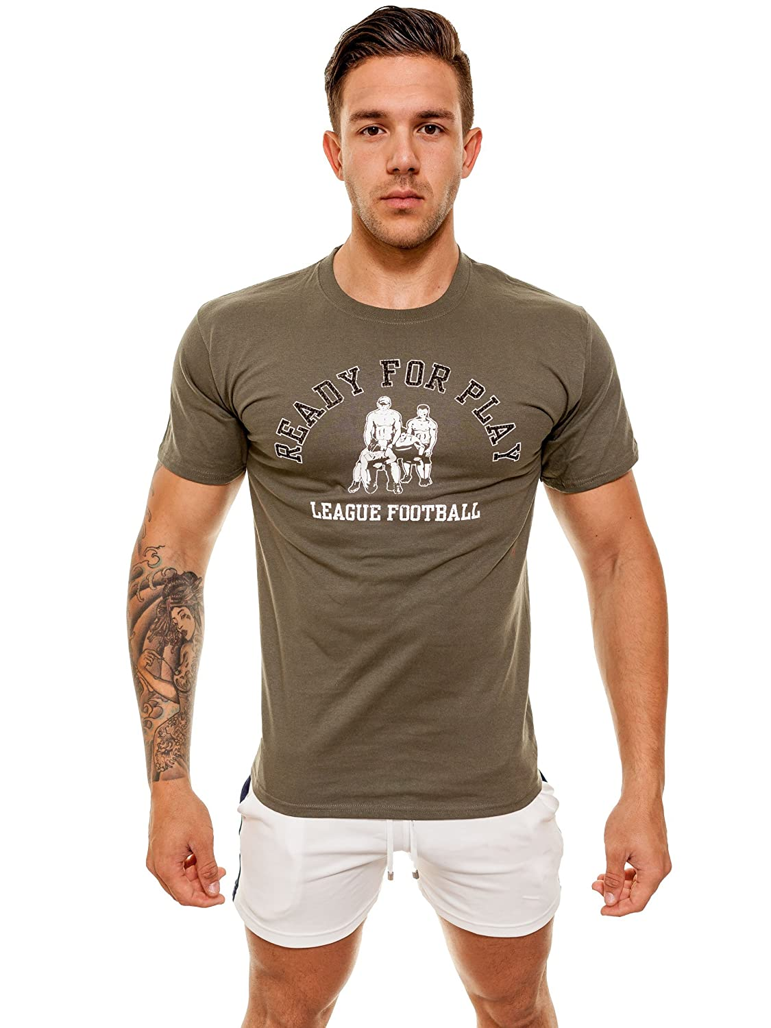 "ajaxx63 ""Ready For Play"" T-Shirt, olive"