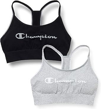 Champion Sujetador Deportivo (Pack de 2) para Mujer: Amazon.es: Ropa y accesorios