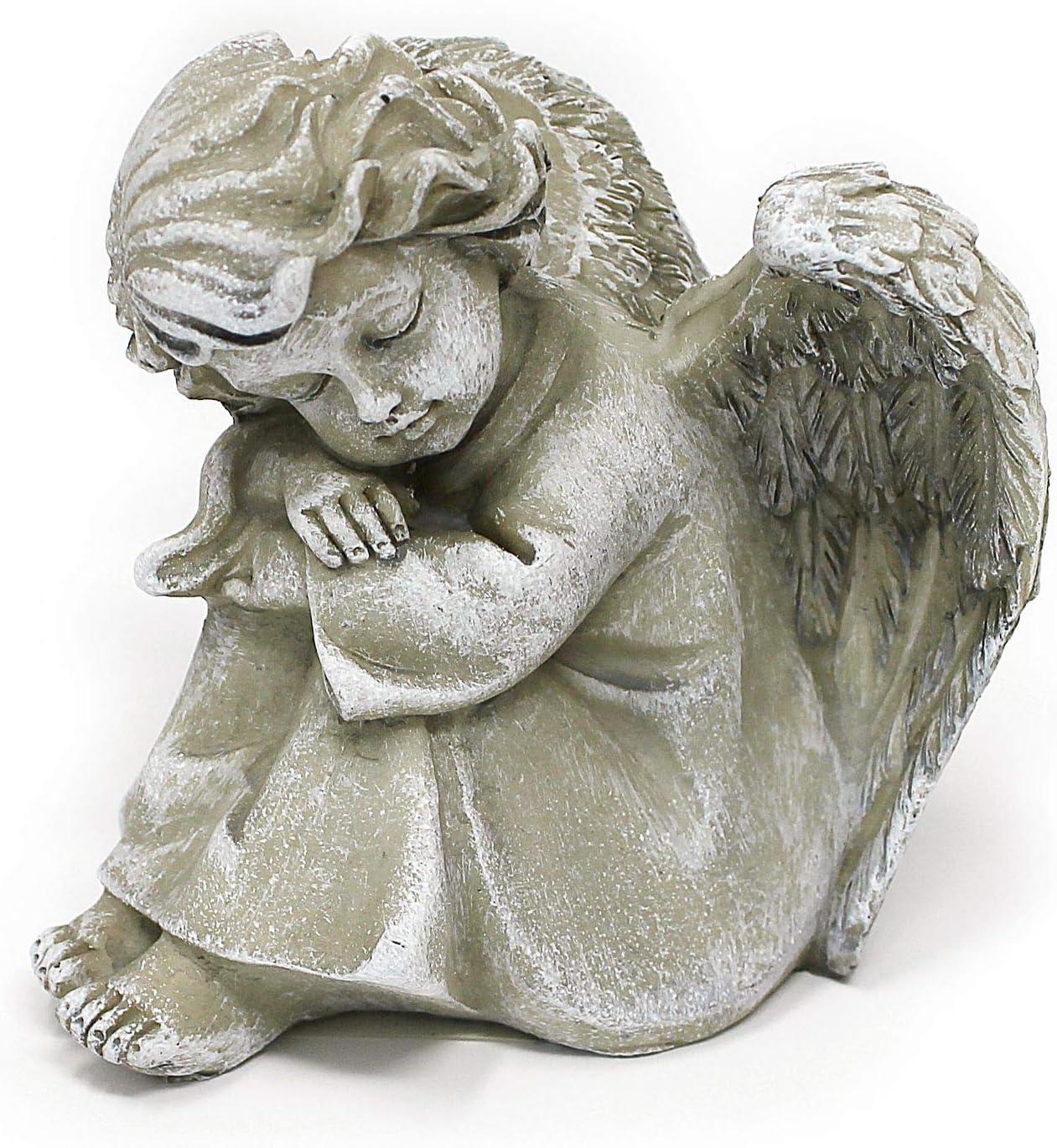 Gartenskulptur Antik Figur Engel Schutzengel Grabengel Trauerengel Grabschmuck