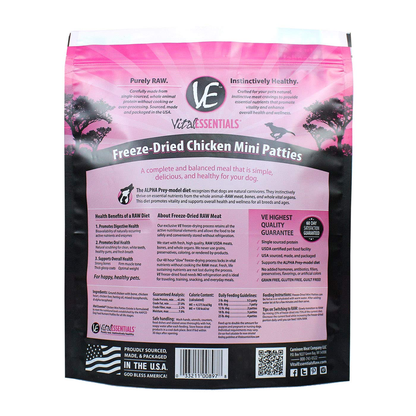 3 Pack Grandma Lucy s Freeze Dried Whitefish Pet Treat, 2.4 Ounces each