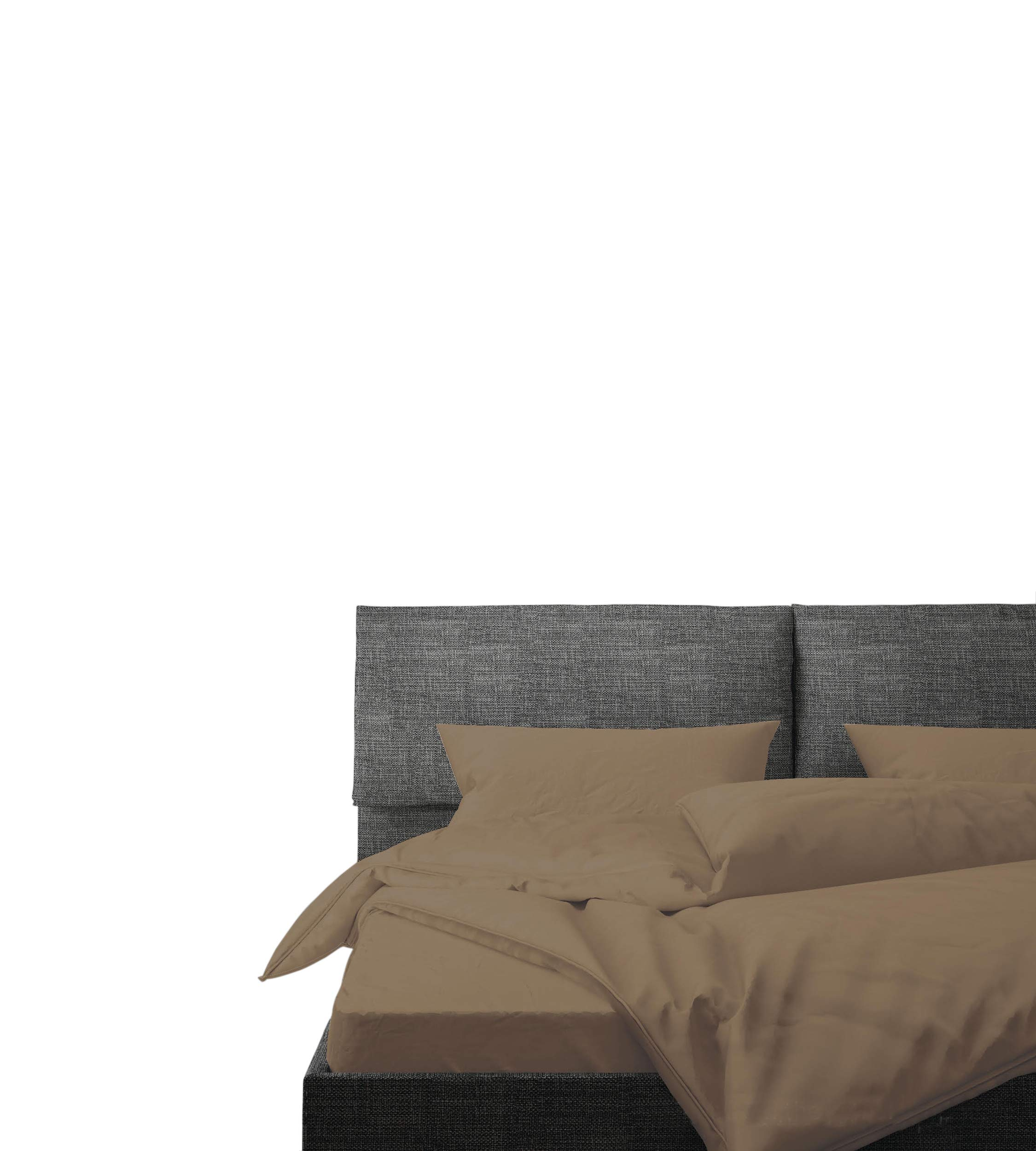 100 cotton percale sheet set taupe queen sheet 4 piece set long staple 854231008744 ebay. Black Bedroom Furniture Sets. Home Design Ideas