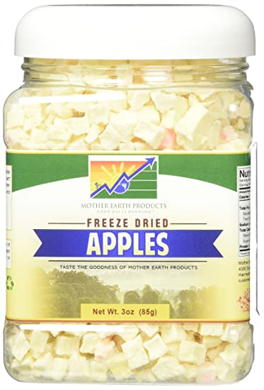 mother earth products freeze dried apples net wt 3oz 85g