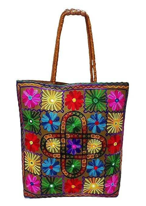 PEEGLI Bolsa De Asa Tradicional Bolso De Hombro De Las Mujeres Bolso Bordado: Amazon.es: Zapatos y complementos