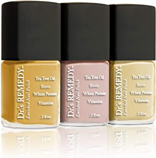 product image for Dr.'s Remedy Non Toxic Organic Natural Nail Polish Toenail Fungus Treatment 3 Piece Sets (TACTFUL Tumeric, POLISHED Pale Peach, SWEET Solei)