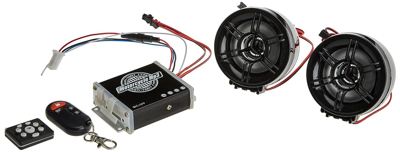 kdx-audio 09.5459 - オートバイおよび盗難防止システム用スピーカー、ブラック   B01HG14E3O