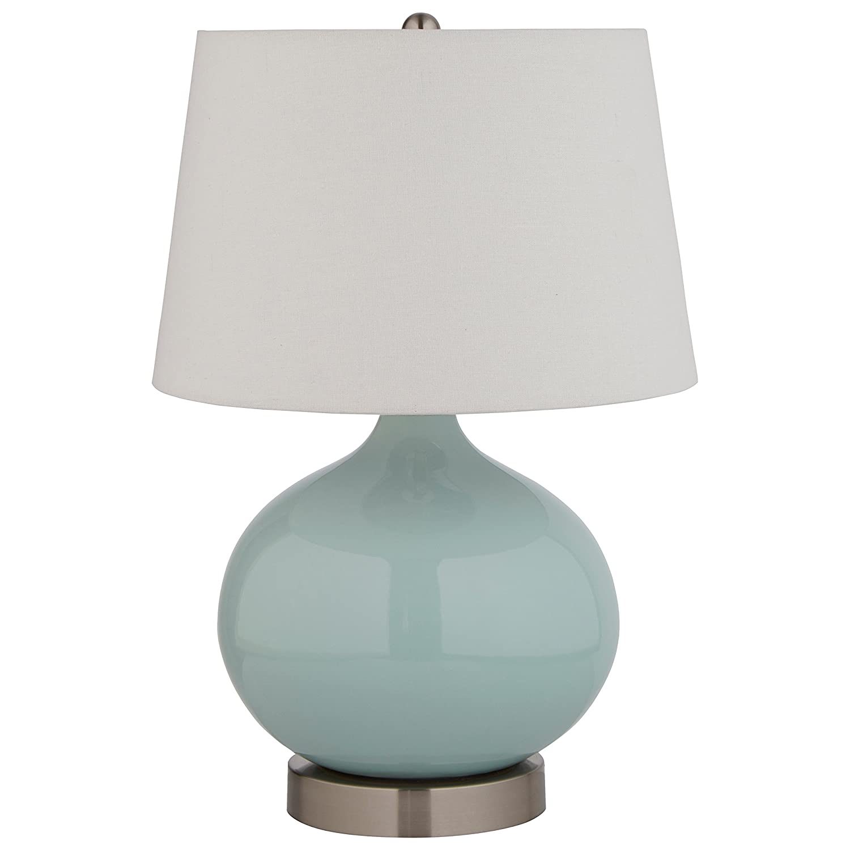 Stone & Beam Cyan Ceramic Lamp, 20 H, With Bulb,