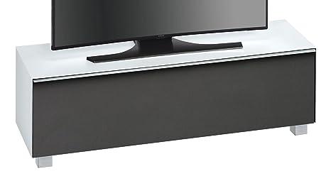 maja mobel soundconcept glass 7736 soundboard weissglas matt akustikstoff schwarz abmessungen bxhxt