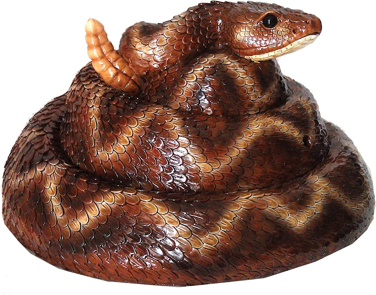 Michael Carr Designs Rattler Snake with Motion Activated Rattler Sound Outdoor Snake Figurine for Gardens, patios and lawns (80073)