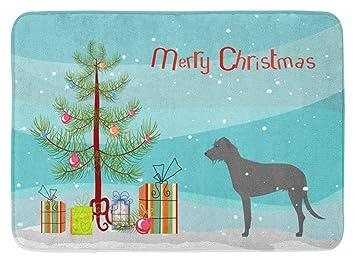 Frohe Weihnachten Irisch.Caroline S Treasures Bb2921rug Irischer Wolfshund Frohe Weihnachten