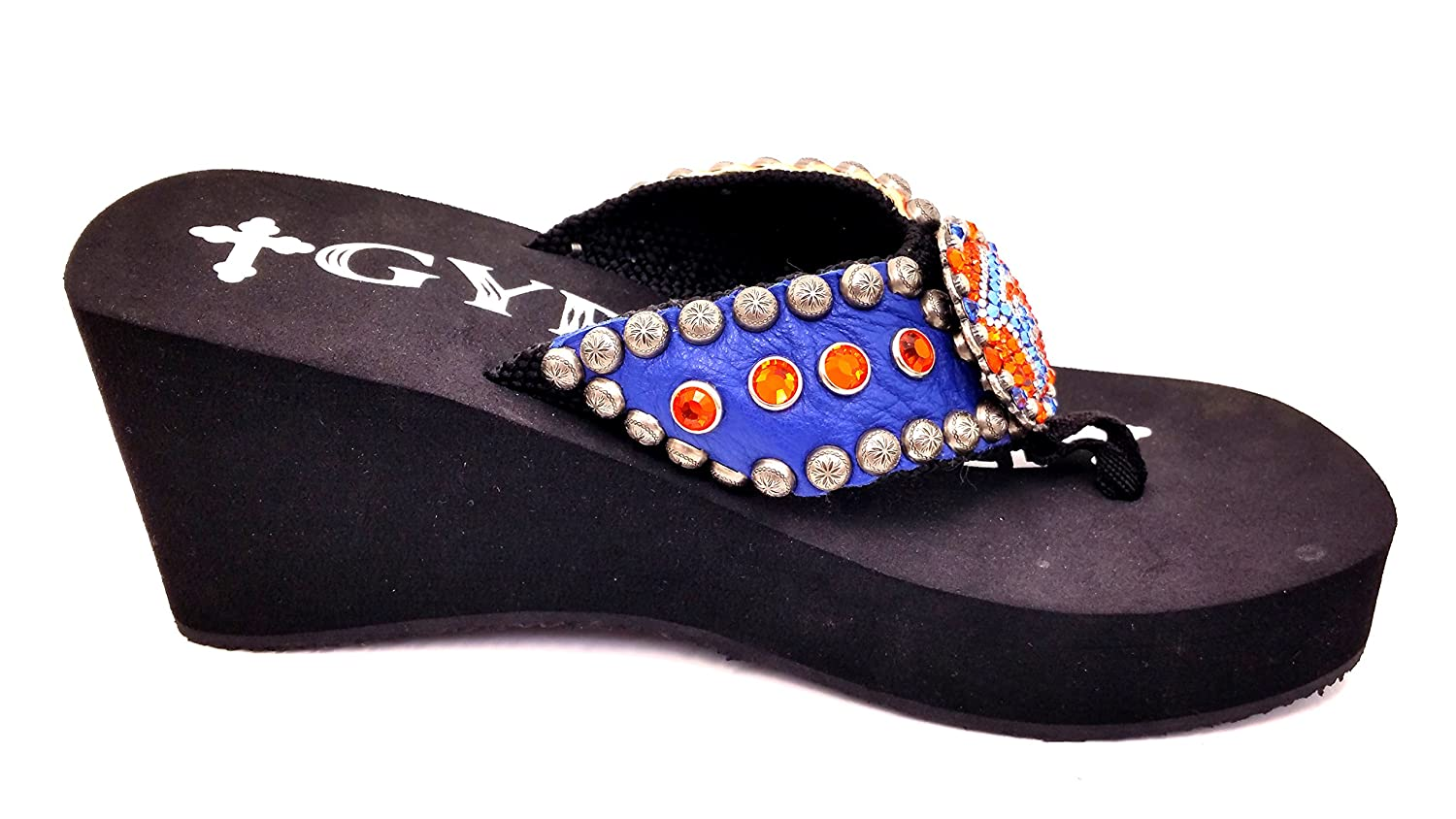 a8555cd74 Soule florida gators heel with concho and swarovski crystals blue flip flops  jpg 1500x844 Gypsy soule
