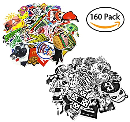 160pcs car motorcycle bicycle skateboard laptop luggage vinyl sticker graffiti luggage decals bumper stickers 100