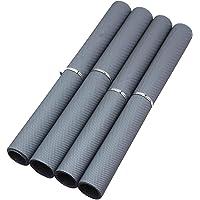 HOME BUY Multipurpose Polyester Blend Super Strong Textured Anti Slip Eva Mat, 5m, White