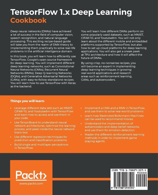 Buy TensorFlow 1 x Deep Learning Cookbook Book Online at Low