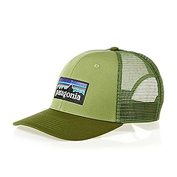 Patagonia P-6 Logo Trucker Gorra de Pesca, Hombre, Crag Green, Talla Única
