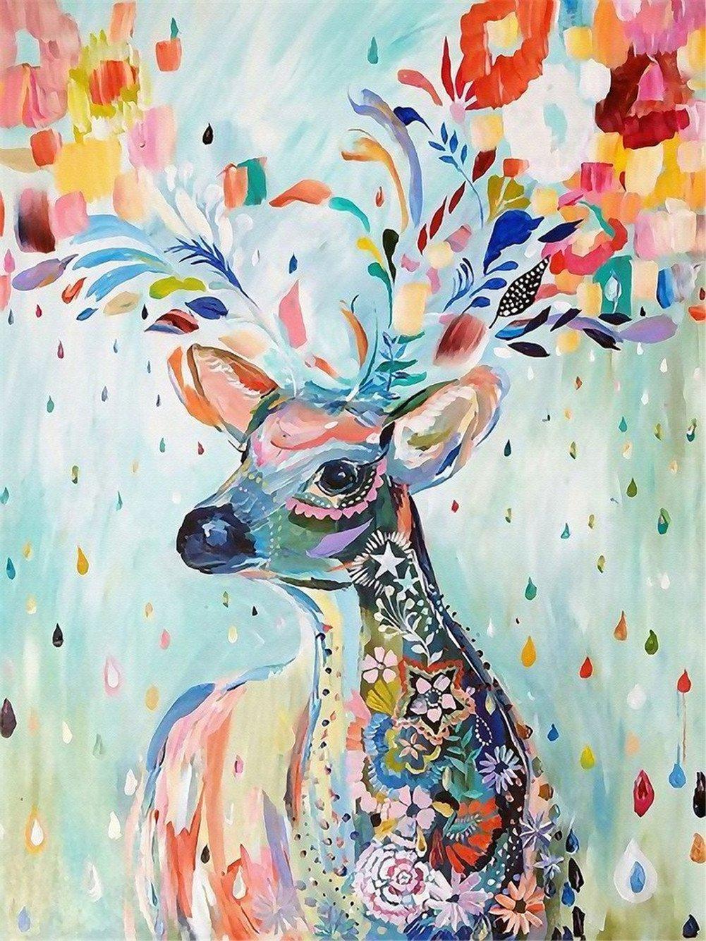【希少!!】 Queenie カラフルなアートワーク B07DWV4FRR 鹿の油絵 木製ジグソーパズル 1000ピース Queenie 仕上がりサイズ 30インチx20インチ 鹿の油絵 バスウッドプレミアム品質 B07DWV4FRR, Feelgood Shop:a4bf1fce --- a0267596.xsph.ru