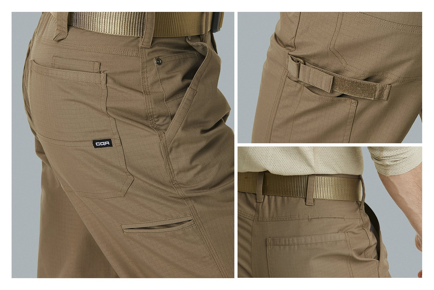 CQR CQ-TWP301-BLK_38W/30L Men's Operator Rip-Stop Tactical Work Utility Pants EDC TWP301 by CQR (Image #7)