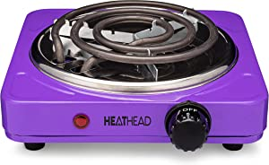 Electric Countertop Burner - Portable Electric Cooker - Mini Kitchen Stove - Charcoal Starter - Kitchen Camping and RV - 1000 Watts